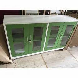 Double Door Glass Door Cupboard, for Office