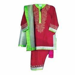 Cotton Festive Wear Kids Salwar Kameez