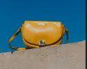Yellow Curvy Edge Bags For Women