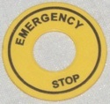 PVC Label-Emergencystop