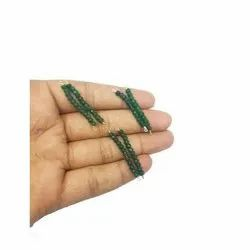 Emerald Faceted Rondelle Beads Bar Pendant