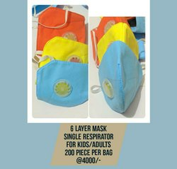 Reusable Respirator Mask, Number of Layers: 6