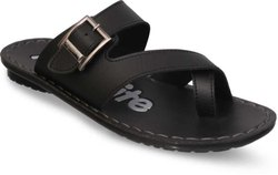 Daily Wear Plain Aqualite Men Black Flats, Size: 6 To 10