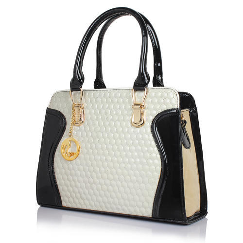 060372ad468e Goldmines Black And White Color Hand Bag