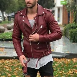 Men Hooded Leather Jackets