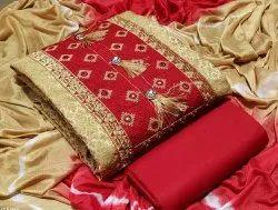 Jackart Silk Dress Material