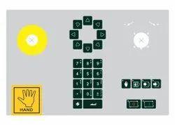 Delem Keyboards Overlay  /CNC Key Board Overlay