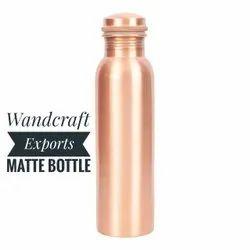 Plain Polish Copper Water Bottle, For Home