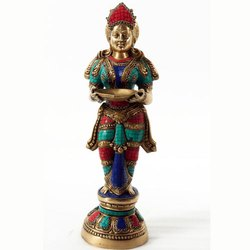 Capstona Brass SW Deep Laxmi Idols