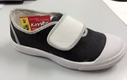 Kayvee Footwear Black and White Custom Sports Shoes