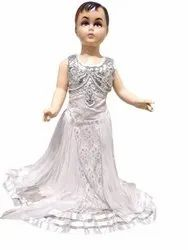 Girls White Gown for Competitions And Parties