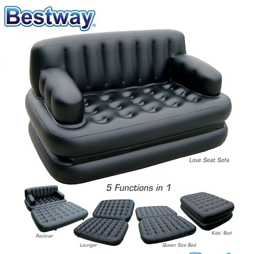 Bestway Inflatable Single Sofa Bed Couch Air Bed Mattress Lounger