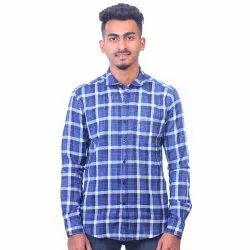Dione Martin Casual Wear Mens Fancy Check Shirt, Size: S, M, L, Xl, Xxl, Packaging Type: Packet/Box
