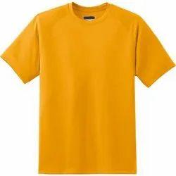 Yellow Round Neck Mens Plain t Shirt, Quantity Per Pack: 1