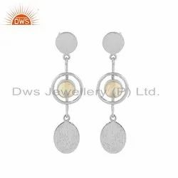 Handmade Fine Silver Ethiopian Opal Gemstone Earrings Jewelry