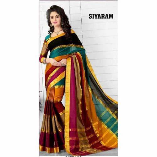 2ac8e9e075 Printed Party Wear And Festive Wear Siyaram Cotton Silk Saree, Rs ...