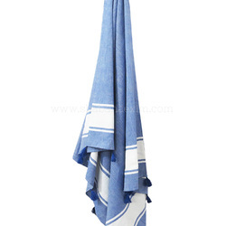 Blue White Striped Turkish Towel