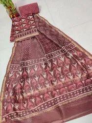 Bagru Hand Block Printed Chanderi Suit Set