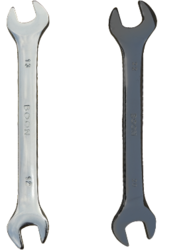 Spanner Full Polish Satin Finish Black Chrome CrV Steel