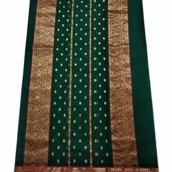 Party Wear Printed Chanderi Silk Saree, With Blouse Piece, 5.5 M (Separate Blouse Piece)