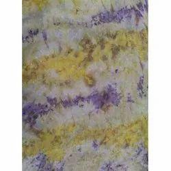 Poly Swiss Dot Tie And Dye Print Fabric