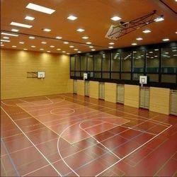 Vinyl Sports Flooring Service, Thickness: 4.5 - 8 Mm