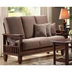 Daniels Furniture Modern 3 Seater Wooden Sofa