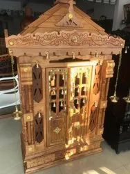 RMG Double Door Wooden Pooja Cupboard for Home