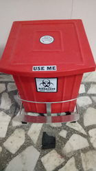 Bio Medical Dustbin With Single Bin Trolley