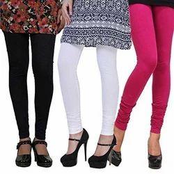 Womens Churidar Plain Lycra Legging
