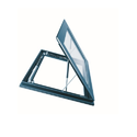 Galvanized, Epoxy Coated Modern Smoke Ventilation Window, For Office