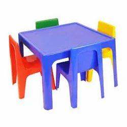 Multi And Plastic Kids Table Set