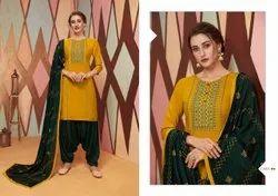 Cotton Casual Wear Kajree Fashion Patiala Suit