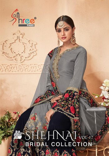 6dd152bbd5 Shree Fabs By Shehnai Vol 17 Georgette Palazzo Style Pakistani Pure Suit