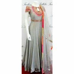 Grey Ladies Anarkali Suit