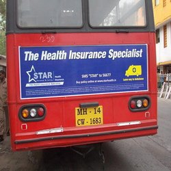 Bus Back Panel Advertising