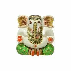 Ganesha Statue Wooden Crafted