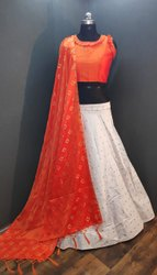 Banarasi Chanderi Weaving Lehenga