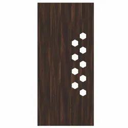 Interior Hinged Teak Wood Carving Door, Size: 7 x 3 Feet