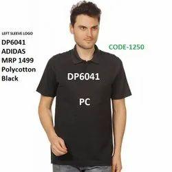 Adidas Poly Cotton Sleeve Logo T Shirt DP6041 DP6042 DP6043 DP6044 DN3097DN3098
