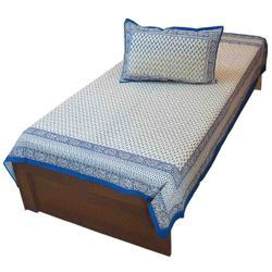 Jaipuri Single Bed Sheet with Pillow 404