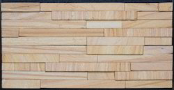 Teak 5 Patti Stone Wall Cladding