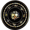 Round Marble Inlay Coffee Table Top