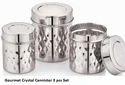 Gourmet Crystal Cannister 3 Pcs Set