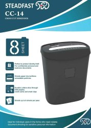 Automatic, Semi-Automatic Steadfast CC-14 Micro Cut Paper Shredder
