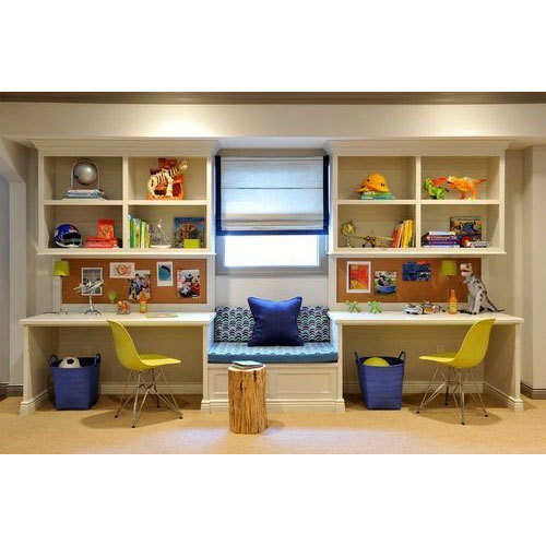 Study Room For Kids: Plywood Kids Study Desk, Subbu Modulars