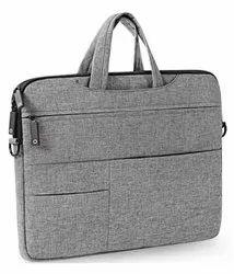 Grey Spacious Office Bag