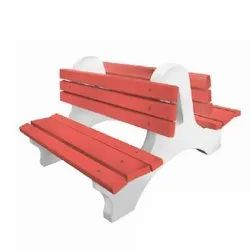 Double Sided Chair Bench with Back Rest