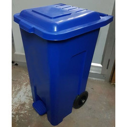 60L Pedal Bin With Wheel