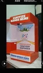 Table top touch free sanitizer